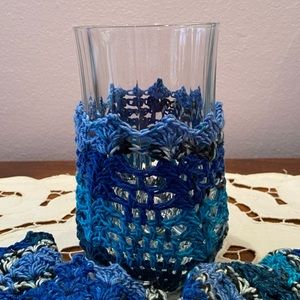 💙Set of 4 Glass Cozies (glass not included)